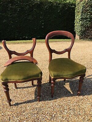 Pair of Antique Balloon Back Chairs - restoration project