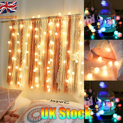1M-6M/10-40LEDs Battery USB Operated LED Furry Ball String Light Fairy Lights
