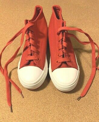Womens/Girl Fashion High Top Sneakers Lace Up Platform Casual Canvas Shoes Sz 37