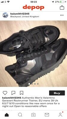 6b7784177150d MENS VALENTINO TRAINERS ( Rockrunner ) Black Size 9 - £290.00 ...