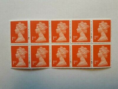 Block Of 10 Mint Unused First Class Stamps With Full Original Gum