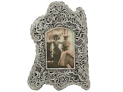 Antique Victorian Sterling Silver Picture Frame 1897