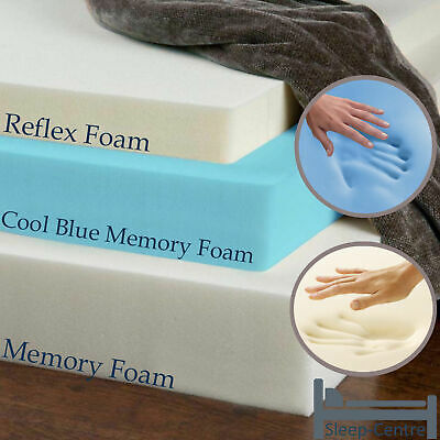 Brand New Memory Foam Mattress Toppers, Cool Blue,Reflex Foam,Memory Foam