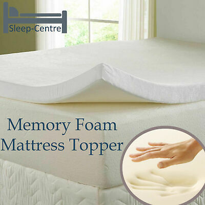 100% Visco Memory Foam Topper, All Sizes & Depths, Hypoallergenic Orthopedic