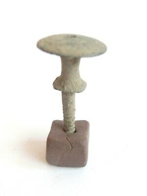 Iron Age POMMEL of DAGGER HILT > Ancient Celtic Bronze Piece of Weapon - 700 BC^