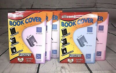 Kittrich Jumbo Silicone Stretchable Book Cover Soft Protective Lot Of 5 Covers