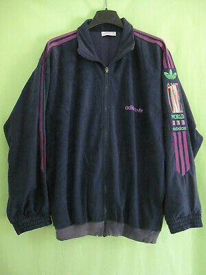 VESTE ADIDAS ONE World marine violette Vintage velour Jacket