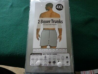 2 pack New Men/'s ProClub 9 inch inseam Boxer Trunks Large to 7XL Gray