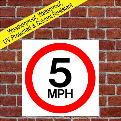 5mph Speed Restriction sign official road safety awareness design 9001