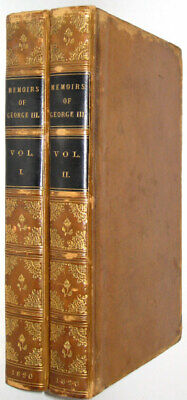 LEATHER Set; KING GEORGE THE THIRD! History NAPOLEON (1820! FIRST EDITION!)RARE!