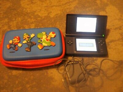 Red : Nintendo DS Lite Game Console - with charger WORKS w/ Mario Case
