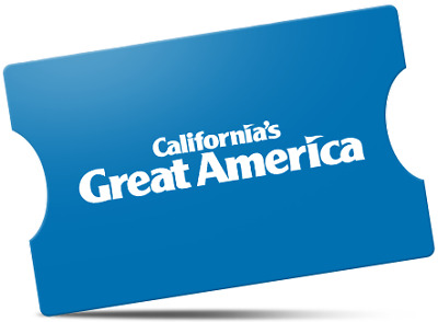2 GREAT AMERICA THEME PARK TICKETS - Adult or Child - SANTA CLARA, CA
