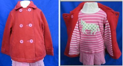 Girls Mini Boden red cotton long sleeve jacket  NWOT