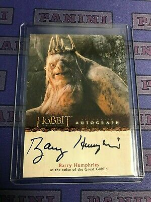 2013 Cryptozoic The Hobbit An Unexpected Journey Auto Autograph BARRY HUMPHRIES