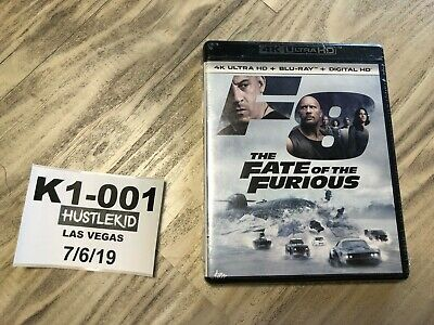 The Fate of the Furious Fast and Furious 8 4K Ultra HD Blu-ray, Digital Copy❄️K1