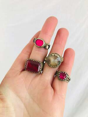 Lot Old Vintage Kuchi Rings. Tribal, Boho, Belly Dance