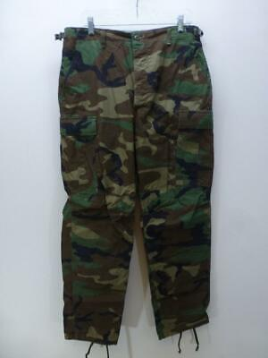 de293c548ee59 WOODLAND CAMO BDU Pants Military Army Issue Trousers Ripstop Medium ...