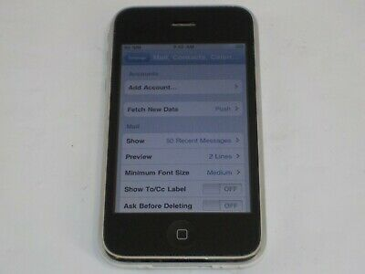 Apple iPhone 3G 16GB White Model A1241 AT&T
