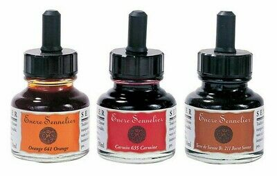 Sennelier Artist Water Resistant Drawing Ink 30ml Bottles - 31 Colours Available