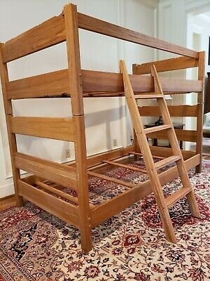 Brandt Ranch Oak Bunk Bed / Two Twin Beds with Ladder and Safety Rail