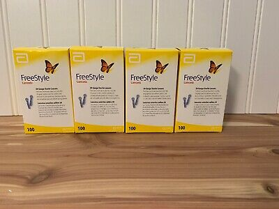 Freestyle Lancets 28 Gauge Sterile Lancets 4 X 100 Lancets 400 Diabetic Needles