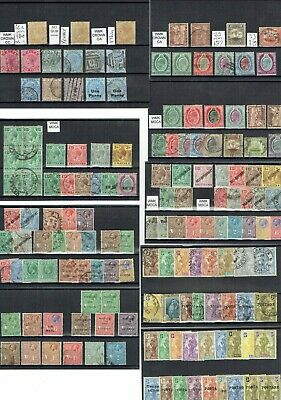 D434 Malta QV-GV stamp collection M/U on 9cards c£a lot