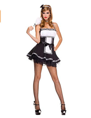 Sweet And Majestic French Maid Costume Music Legs 70570