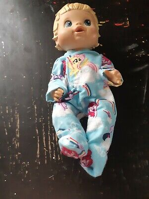 Homemade Little Baby Alive (33cm Doll) My Little Pony Coverall Pyjamas