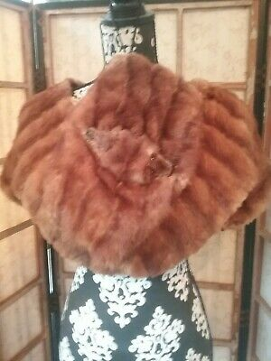 Antique Victorian Mink Capelet and Muff