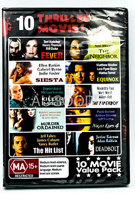 10 Thriller Movies - VALUE PACK - Region All Rare- Aus Stock DVD NEW