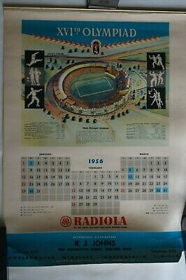 Olympic Games Collectable 1956 Melbourne Vintage 4 page Radiola Olympic Calendar
