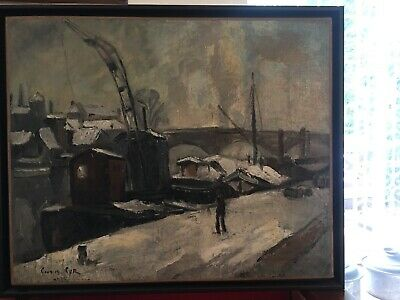 Georges Cyr French Lebanese Oil Painting