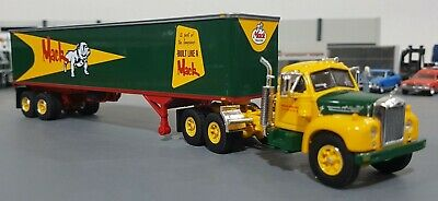 1/64 Vintage B-Model Mack Trucks And Trailer Diecast Made By First Gear In Box