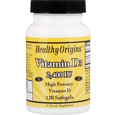 Vitamin D-3, 2400iu, x120 Softgels