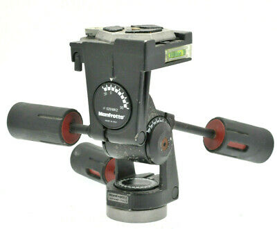 Manfrotto 029 mk2 3 way tripod head with quick release plate