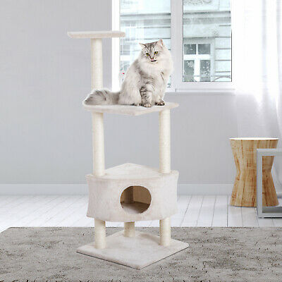 "51"" Multi-Level Cat Tree Kitten Activity Center Scratcher"