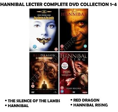 Hannibal Lecter Quadrilogy 1-4 Complete Film Collection 1 2 3 4 New Region 2 Dvd