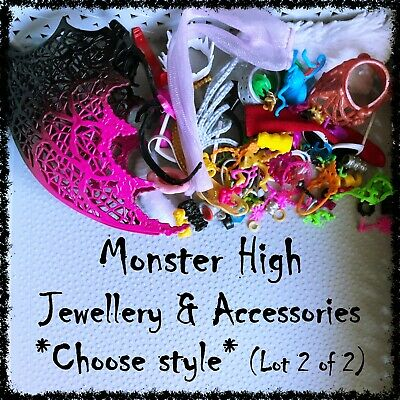 MONSTER HIGH Doll, Outfit & Hair Accessories (Lot 2) ~SELECT STYLE~ 1 Item incl.