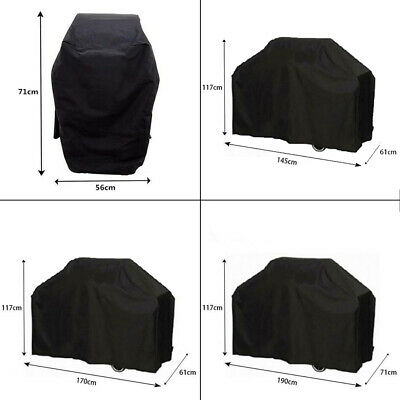 Black Waterproof And UV Resistant Grill Cover Outdoor Dust Rain Gas ProtectioTPD