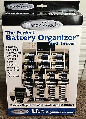 The Perfect Battery Organizer And Tester By Handy Trends Wall Mountable - NEW!