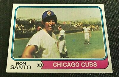 1974 Topps Set Break #270 Ron Santo Chicago Cubs Baseball Card