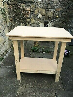 CHEAPEST ON  * 4FT MDF TOP WOODEN WORK BENCH HAND MADE IN UK-