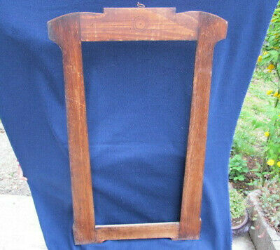 OLD ANTIQUE PRIMITIVE WOODEN BIG FRAME FOR MIRROR OR PICTURES PHOTO EARLY 19th
