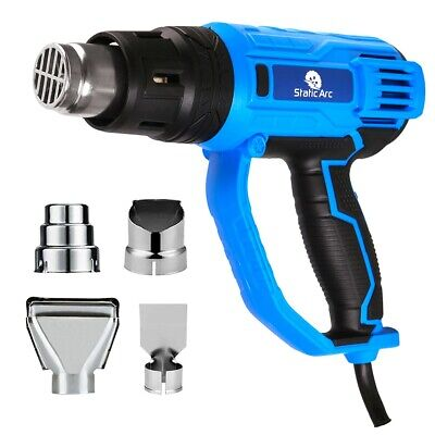 2000W Electric Heat Gun Hot Air Nozzle Variable Temperature Power Corded Uk Plug