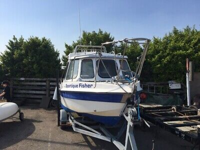 Sportique Fishing Boat 18ft  - includes trailer
