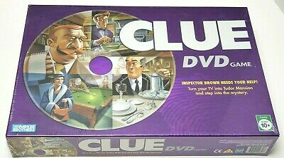 Clue DVD Family Mystery Board Game By Parker Brothers Hasbro 2006 Edition New