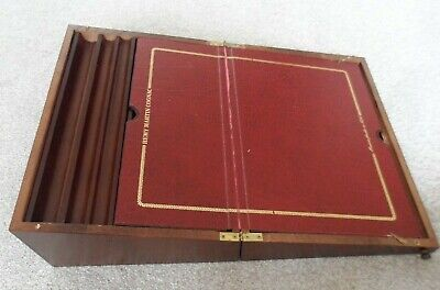 Vintage Remy Martin writing slope/desk with pen and bottle storage.