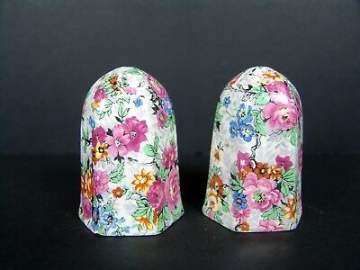 Vintage Chintz Floral Lord Nelson Marina Chintz Salt and Pepper Shakers