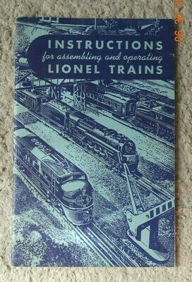 1949 LIONEL Instructions for Assembling and Operating LIONEL TRAINS - VG+ COND.
