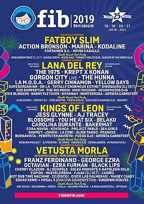 FIB Benicassim Festival 2019 4 Day Ticket including camping